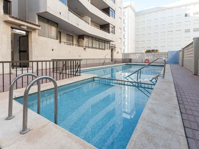 Photo for PARCHIS - Apartment with shared pool in Playa De Daimuz .