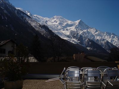 Photo for Central Chamonix flat with private terrace and stunning views