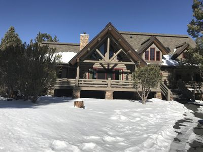 Photo for Luxurious family friendly log cabin home situated in tranquil  Big Bear