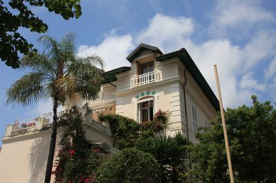 The apartment is in this beautiful Belle Epoque villa.