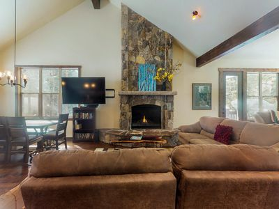 Photo for Dog-friendly, tranquil retreat nestled in the forest with river views!