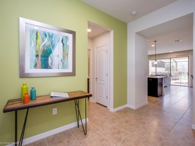 Photo for STUNNING, ELEGANT, 5 Bed/4.5 End Unit w/yard private, Pool Just 5 miles to WDW