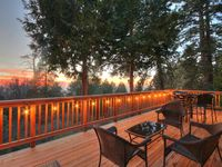 Simple and modern with amazing views from the deck