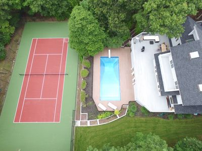 Photo for Sag Harbor Oasis- 5 beds, heated pool, privacy...still available for July 2019!
