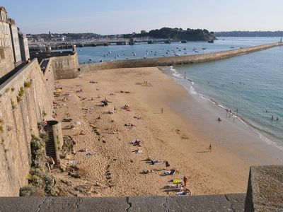 Photo for Saint-Malo intramural apartment 30 meters from the beach the pier, embark ...