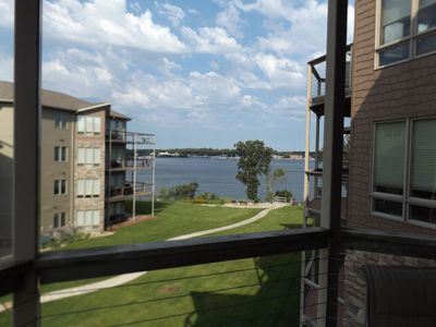 Photo for OKOBOJI VACA- 2020 top dates available in Condo/new 7000# Hoist to rent
