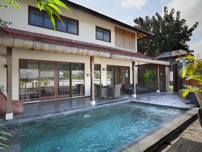 Photo for 3 BR Villa Private Pool in Berawa, Canggu, Free shuttle service to Seminyak area
