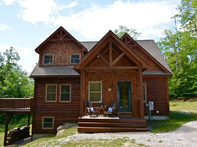 Beautiful Log Sided Sunday River Home with Open Floor Plan