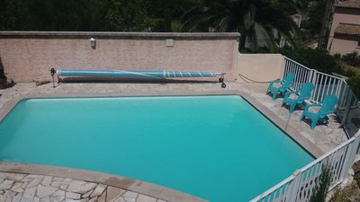 Photo for PROMO from 20 to 27/07 T1 in RDJ for 2 pers, terrace sea view, swimming pool, sea to pie