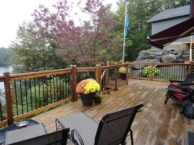 Wrap around deck with view of the lake.