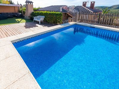 Photo for Lovely apartment for 6 people with A/C, private pool, WIFI, TV and parking