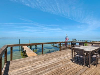 Photo for Immaculate Waterfront 4BR 4.5BA on Pensacola Beach W/ Private Dock Sleeps 14!!