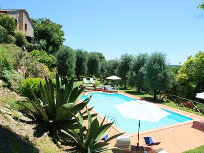 Photo for Agriturismo Podere Luchiano, Amelia, typical 17th century farmhouse with private swimming pool