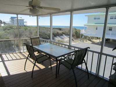 Photo for Great Gulf Views , 1st Tier, Screen Porch,100 steps to the beach , Pet Friendly