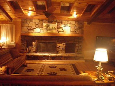 Photo for Rustic Lodge, 20 Secluded Acres, Amazing Decks and View, Must See!