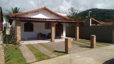 Photo for HOUSE WITH SWIMMING POOL AND INTERNET Gated community, in front of the beach of Massaguaçu.