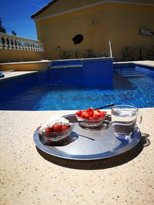 Photo for 4 pers. house, 2 bedrooms + 2 bathrooms en-suite, heated Private Pool + Jacuzzi