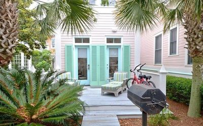Photo for BRAND NEW LISTING in SEASIDE!! - WEST INDIAN  – 90-Seconds to Beach, 2 Minutes to Town Center, Cozy Cottage for 2! Community Pools, Fitness Center - BEACH GEAR INCLUDED!!
