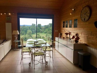 Photo for Large wooden house with magnificent view of the Pyrenees
