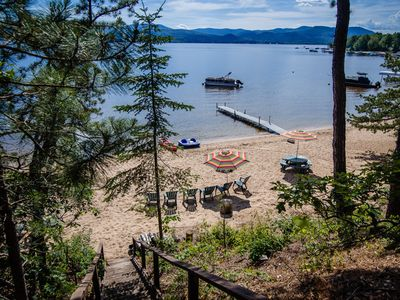 Photo for OSSIPEE LAKE - Gorgeous house - BEST BEACH ON THE LAKE- Private Dock and Mooring