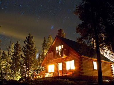 Photo for Peaceful, Secluded Cozy Log Cabin in the Mountains