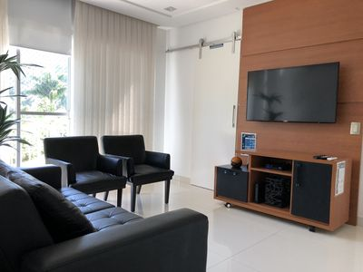 Photo for Apto Clean in Guarujá, air-conditioning, cable TV, wi-fi; 200 meters from Enseada