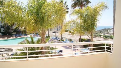 Photo for Charming 1 bedroom apartment with sea view for 2/4 people 550m from the beach