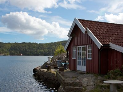 Photo for Cozy cottage for 2 people at Trysfjord in Southern Norway