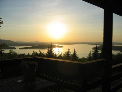 World-class view overlooking Moosehead Lake, Greenville, Maine
