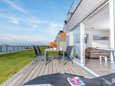 Photo for Vacation property in direct water location and close to the beach - fantastic water views - morning and evening sun on two terraces - sauna and whirlpool