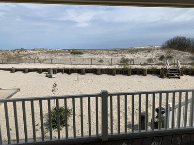 Photo for Ocean City Beachfront! New Owners. Step Off Your Porch Into the Sand.