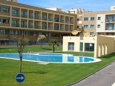 Photo for ACCOMMODATION IN CONDOMINIUM WITH POOL AND LARGE TERRACE, A 1000 m BEACH