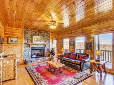 Photo for Mountainview cabin in private community w/ hot tub, game room, pool, playground