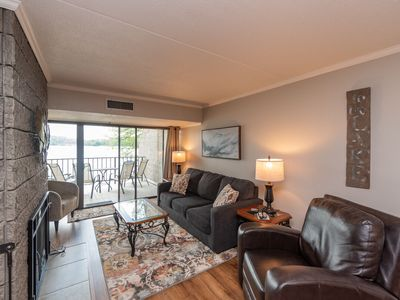201B- One bedroom lakefront condo w/ two balconies for peaceful lake views!