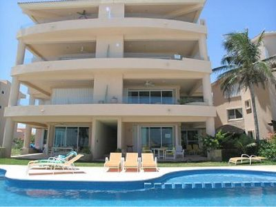 The unit is on the top two floors which gives the best views of Puerto Aventuras
