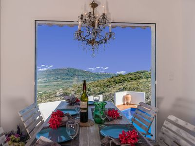 Photo for Villa Arcot  with salt water pool, air con, TV , Wifi, sleeps 6 people