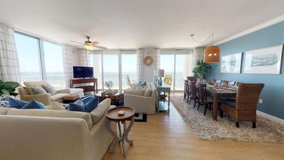 Photo for Picturesque Gulf-front 4 bedroom Corner Unit, Catalina 1401 - Get all the Beach Club Perks