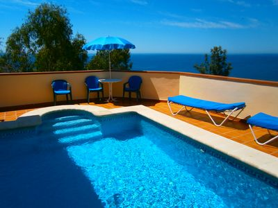 Photo for Villa with pool near the sea Nerja Malaga Andalusia Spain