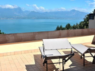 Photo for Cà Brancolì With Lake View - Apartment for 6 people in Torri del Benaco