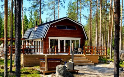 Comfortable newly built log cabin in the middle of the forest, built for quality of life and community.