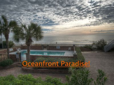 Photo for OCEANFRONT Townhome Steps Away From the Beach!  Newly renovated for 2019!