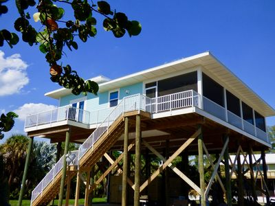 Photo for Cuttlefish Cottage:  Stunning brand new gulf view home, beach bikes, dockage