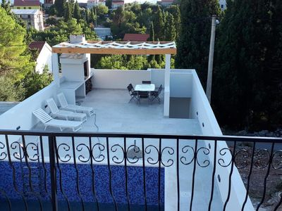 Photo for Villa Dragi, villa with pool and big terrace, sea view, peacfully and quite