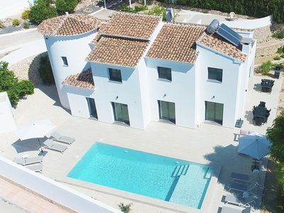 Photo for Stunning new build villa with private heated pool
