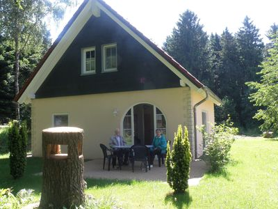 Photo for Detached holiday home with sauna and steam bath, in a forest