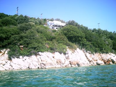 General view  of the property from the sea