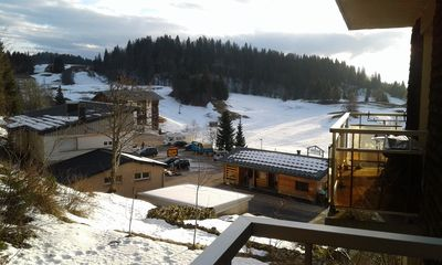 Photo for rent studio in the high Jura ski holiday background and track