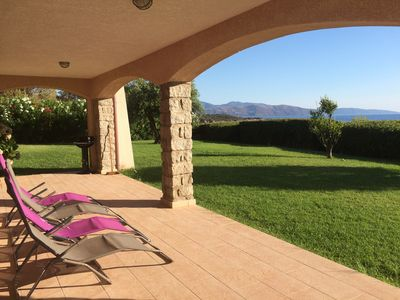 Photo for Superb modern rental- Stunning sea view 3 minutes from the beach