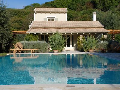 Photo for Villa with Private Pool set in a Large Garden in Avlaki near Kassiopi. EOT/MHTE