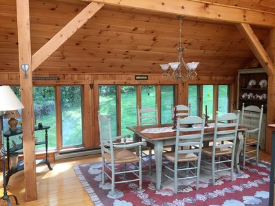 Photo for Charming Townhouse, Sunroom Dining, Close to Mount Snow Carinthia Base. Hot tub!